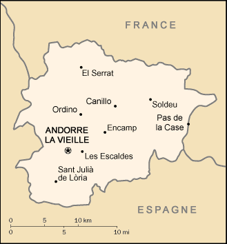 Carte Andorre large map