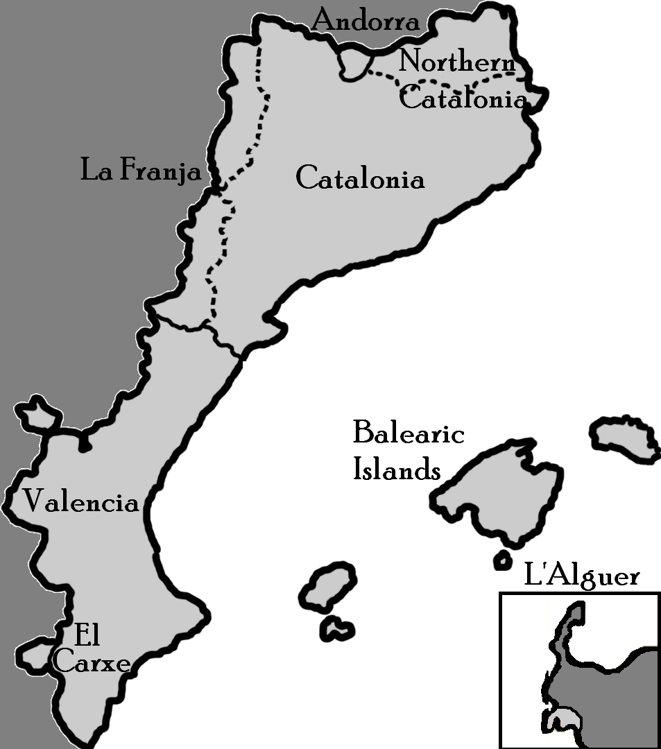 Catalan Countries large map
