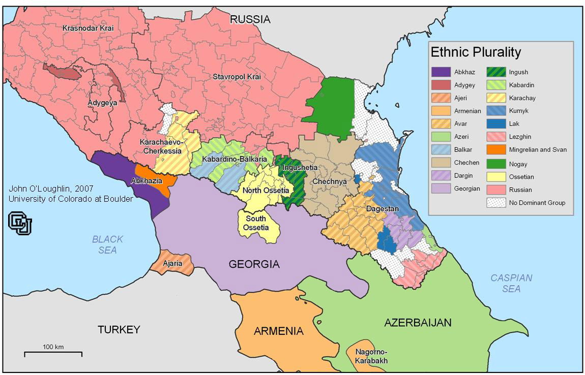 Caucasus Ethnic Map
