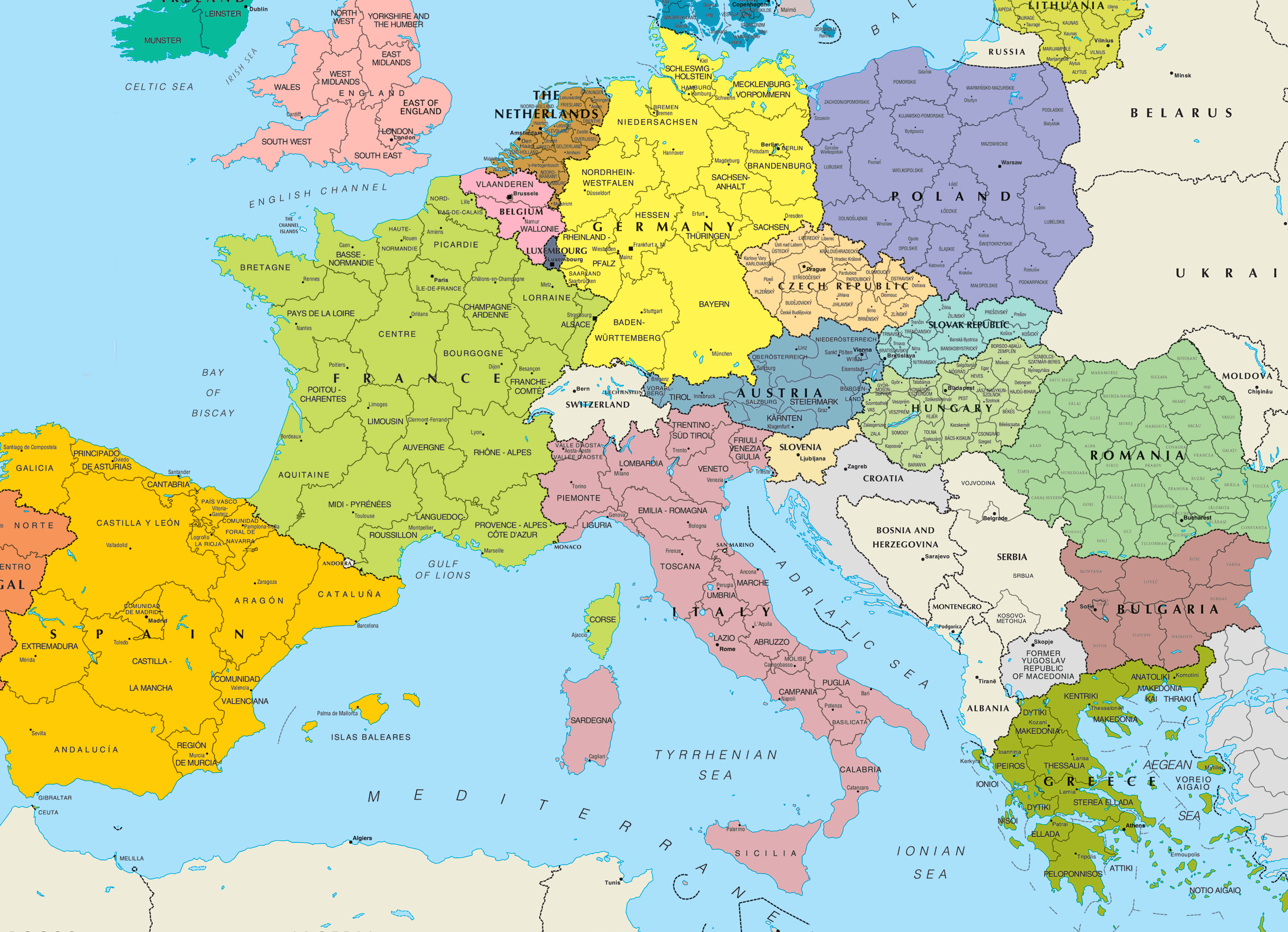 click on the central europe political map . central europe political map • mapsofnet