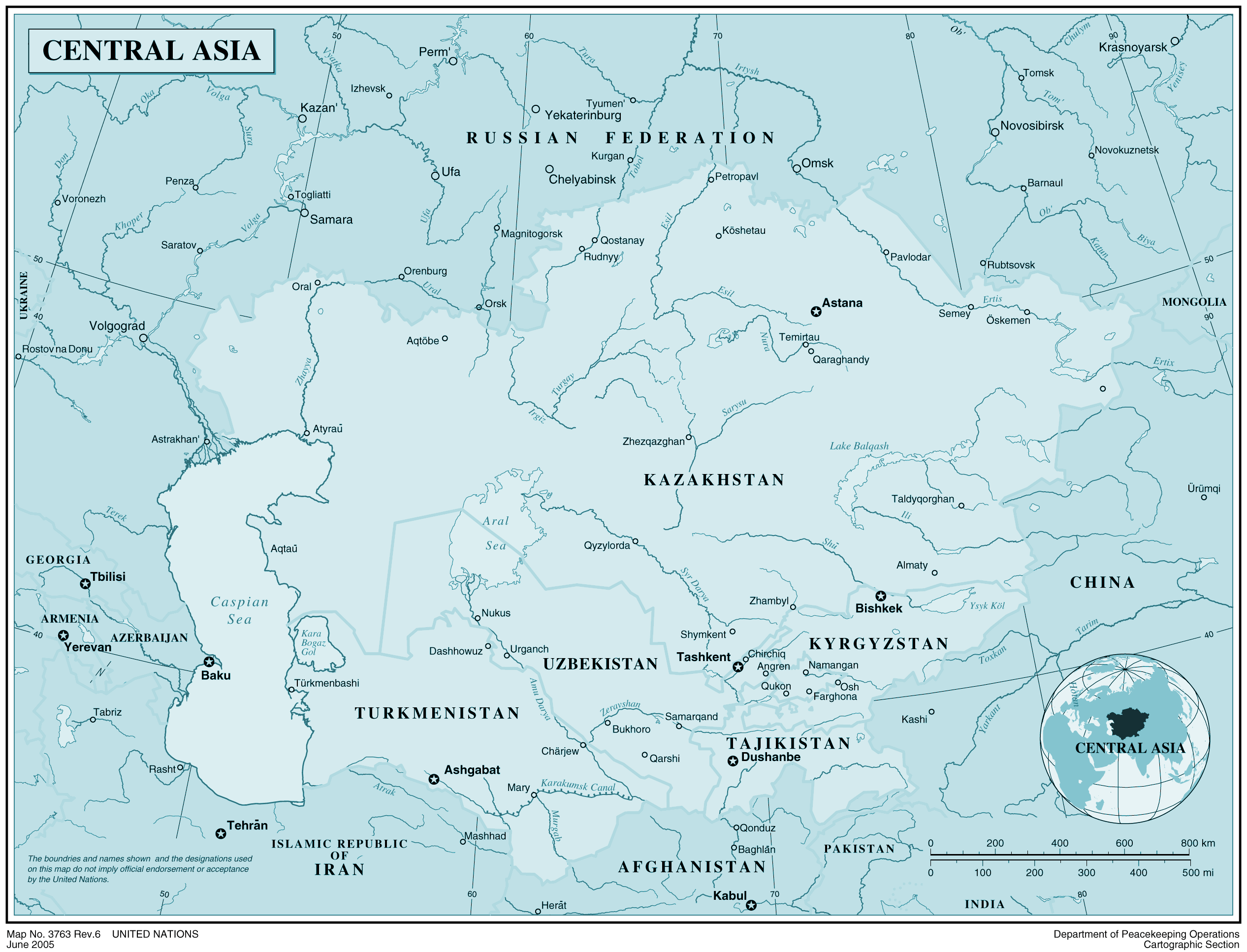 Centralasia large map