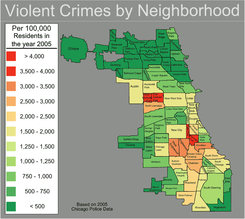 Chicago Violent Crime Map Mapsofnet – Chicago Tourist Map