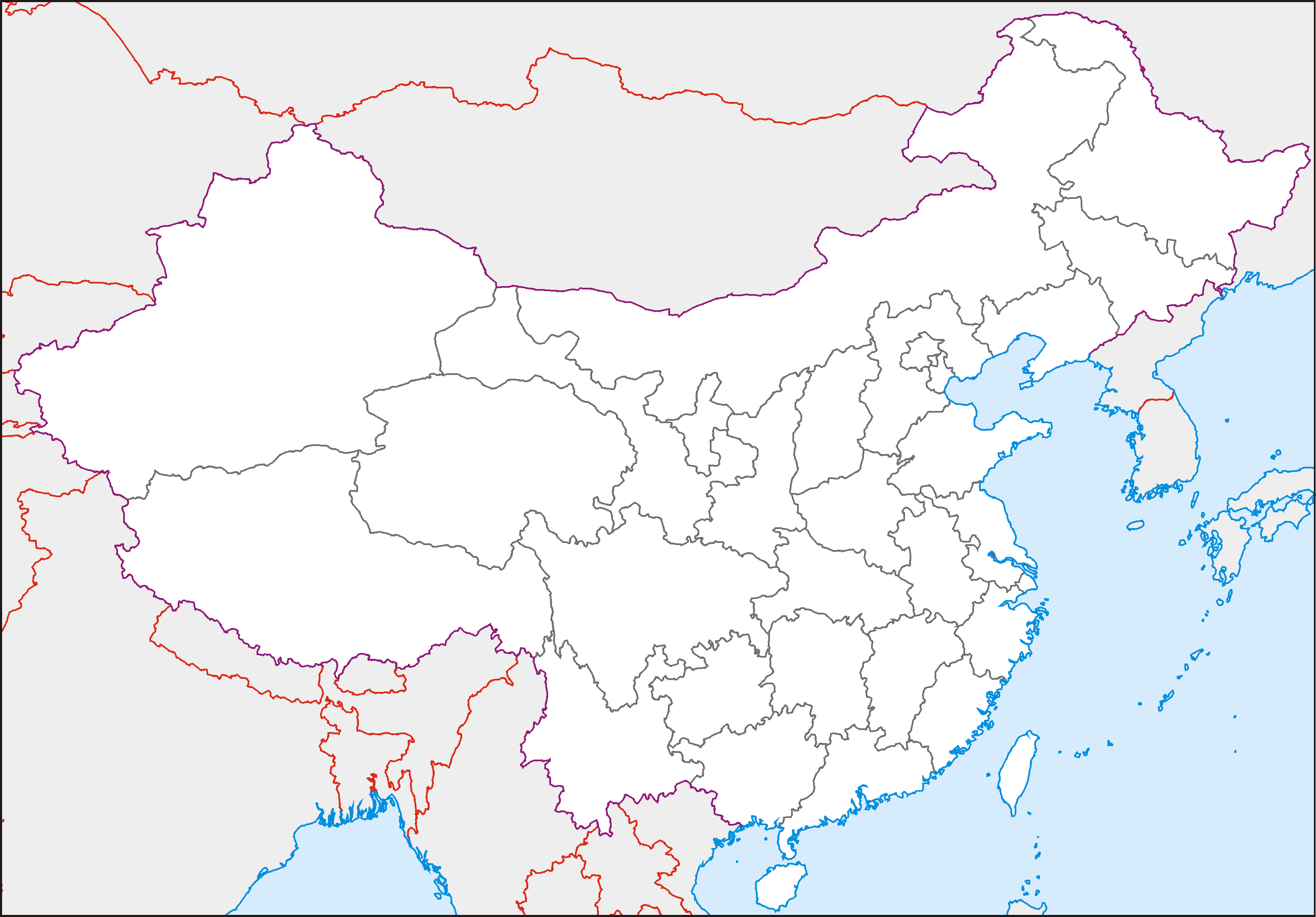 China Equirect • Map...
