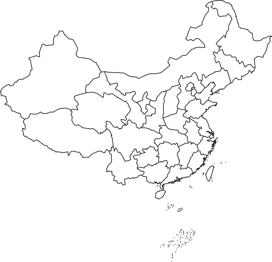 Coloring sheet great wall of china - Map Of China To Label And Color Pictures To Pin On Pinterest