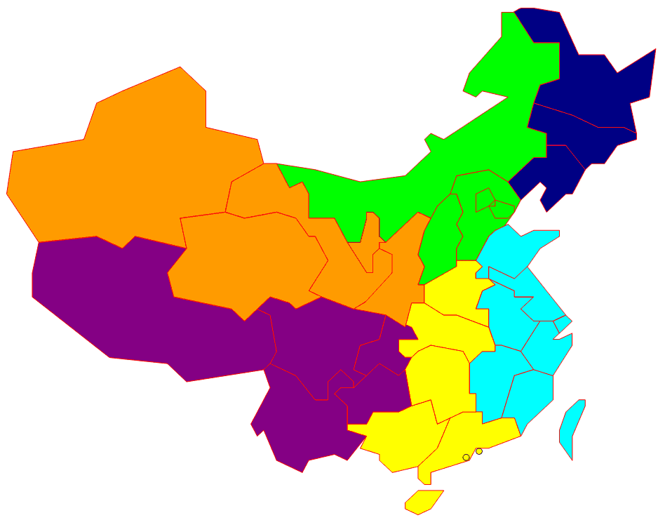 Taiwan China Map.China Regions Including Taiwan Mapsof Net