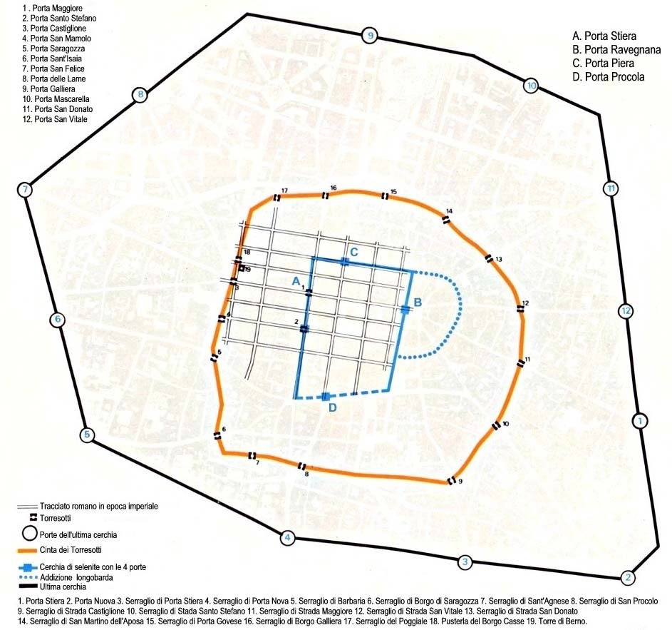 City Central Map Bologna large map