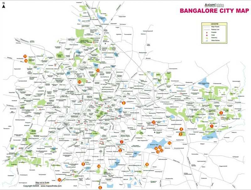 Bangalore maps. Click on the City Map Bangalore to view it full screen