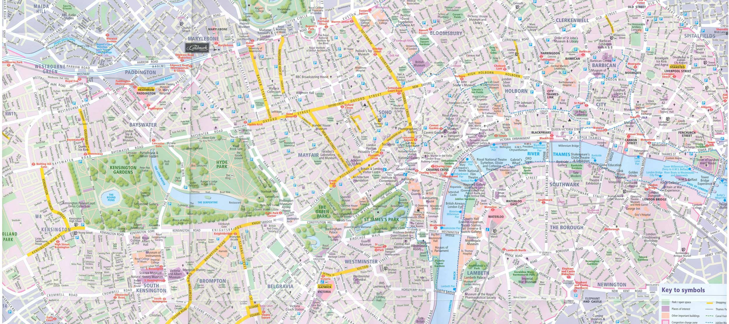 City Map London Mapsofnet