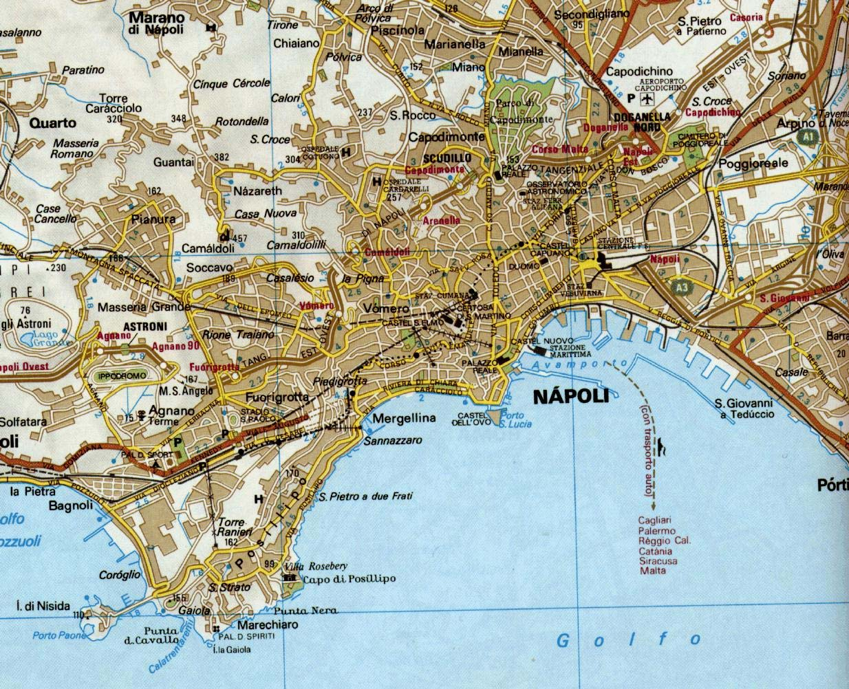City Map Naples large map