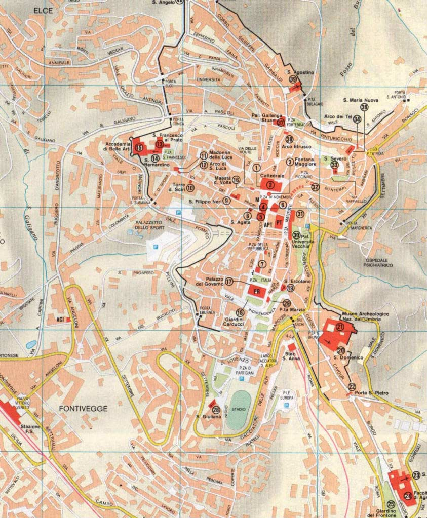 City Map Perugia 2 Mapsofnet