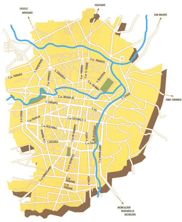 City Map Turin large map