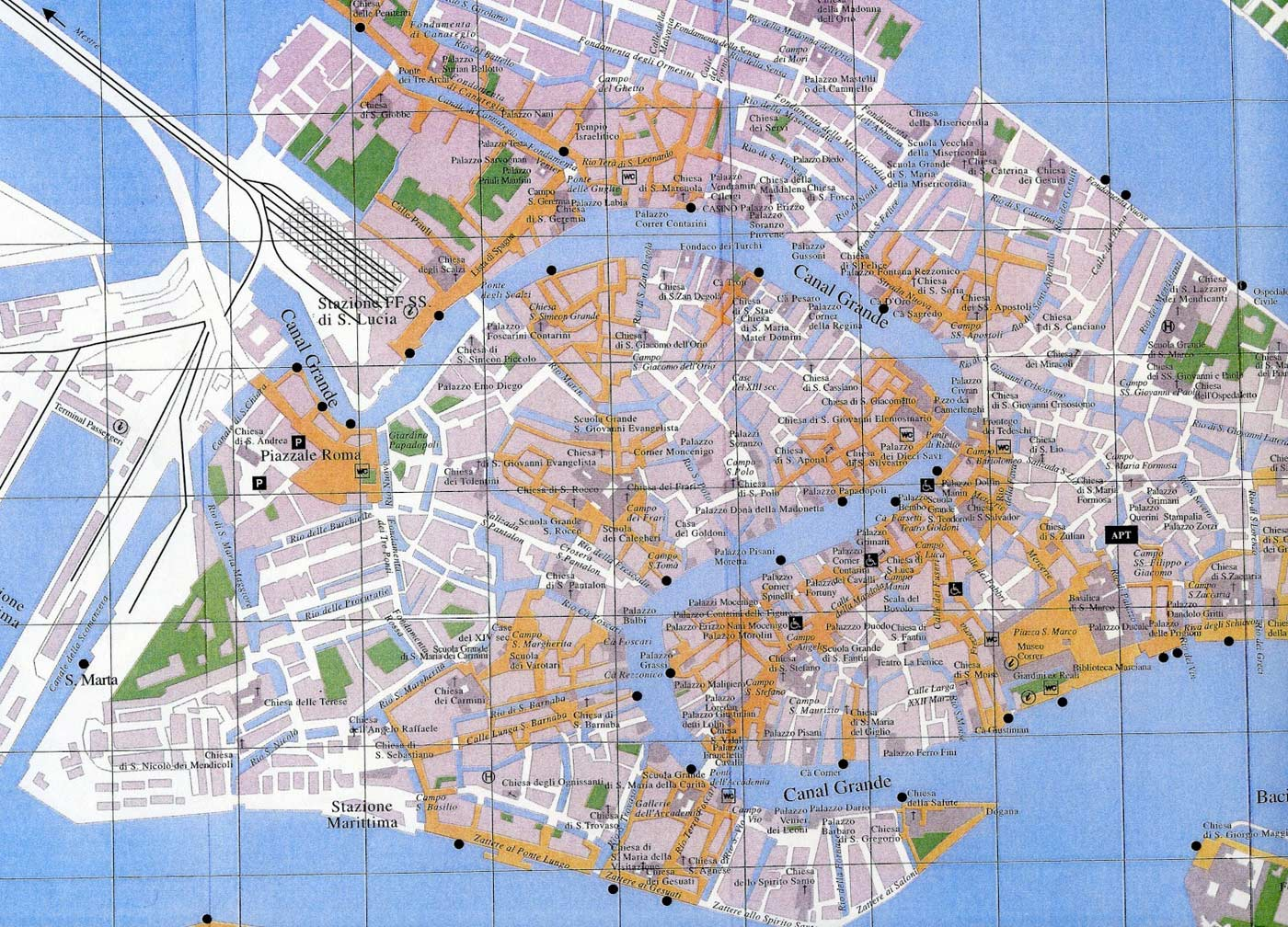 City Map Venice large map