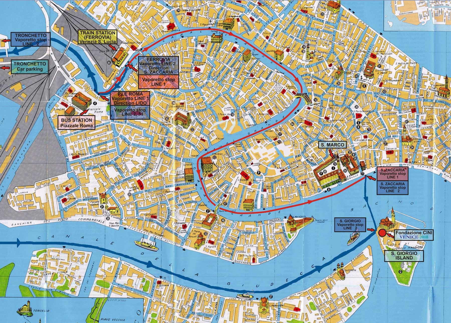 City Map Venice (venezia) large map