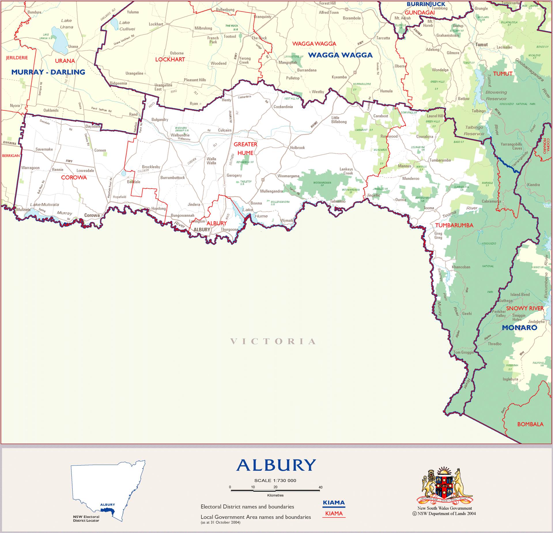 City Map of Albury Mapsofnet