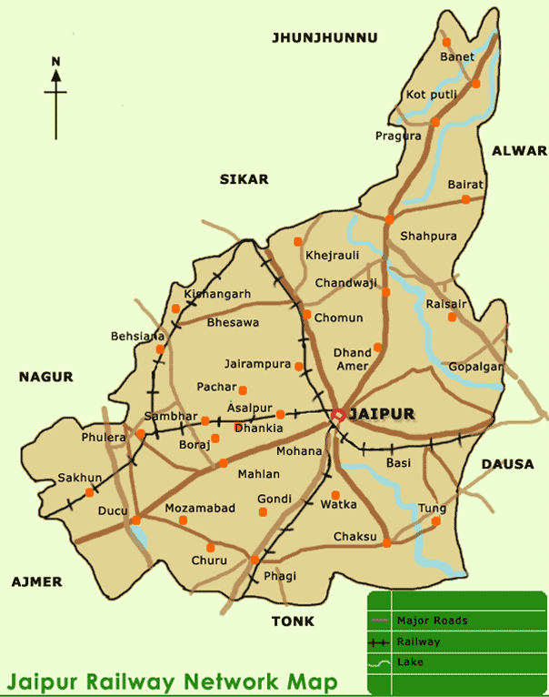City Map of Jaipur large map