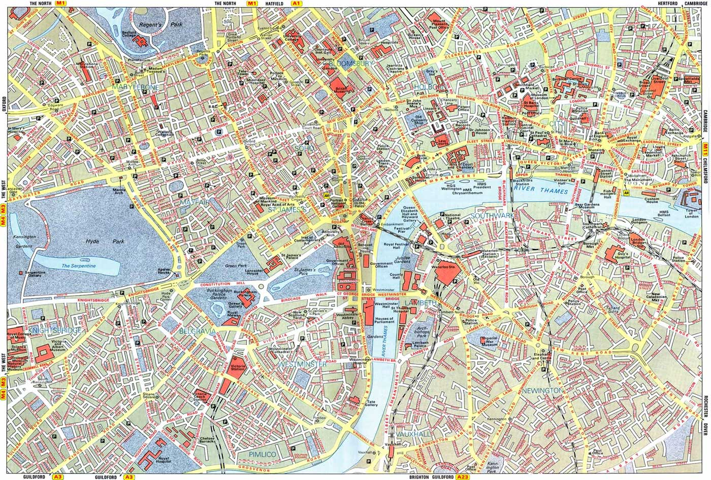 City Map of London Mapsofnet