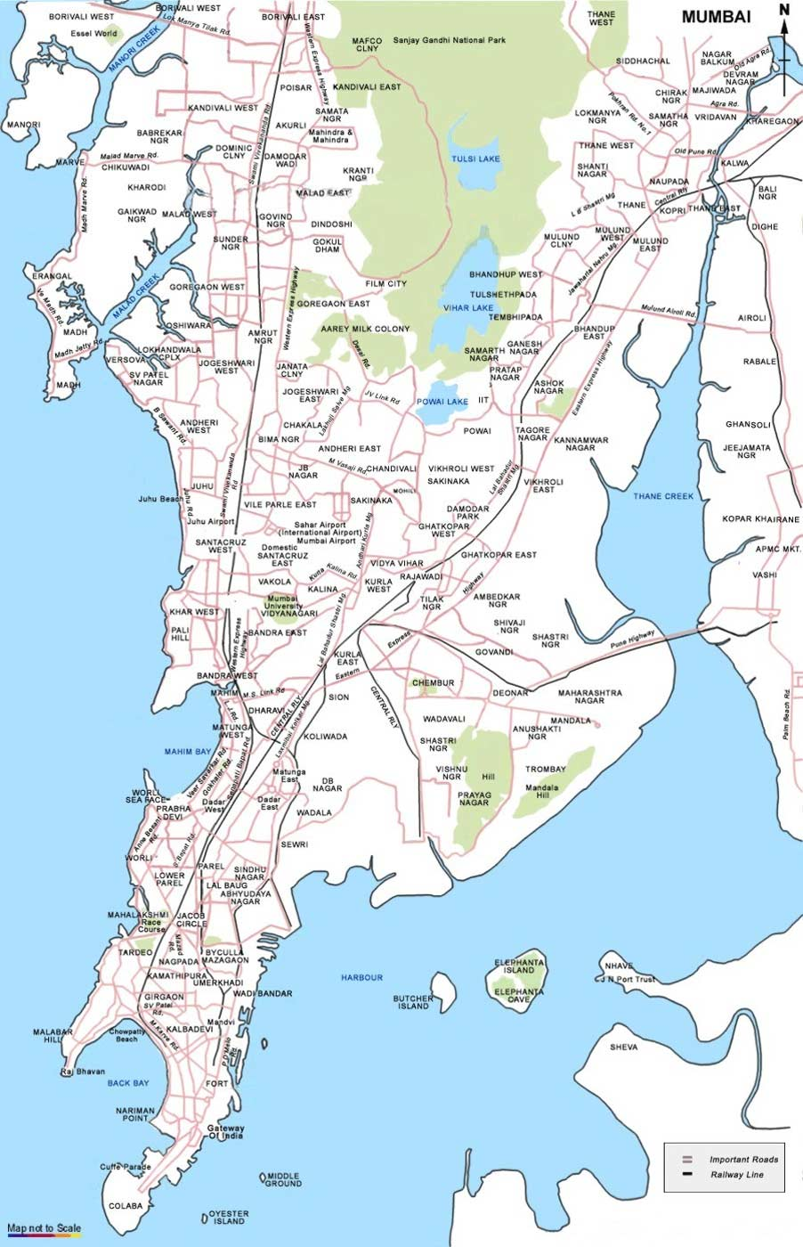 City Map of Mumbai