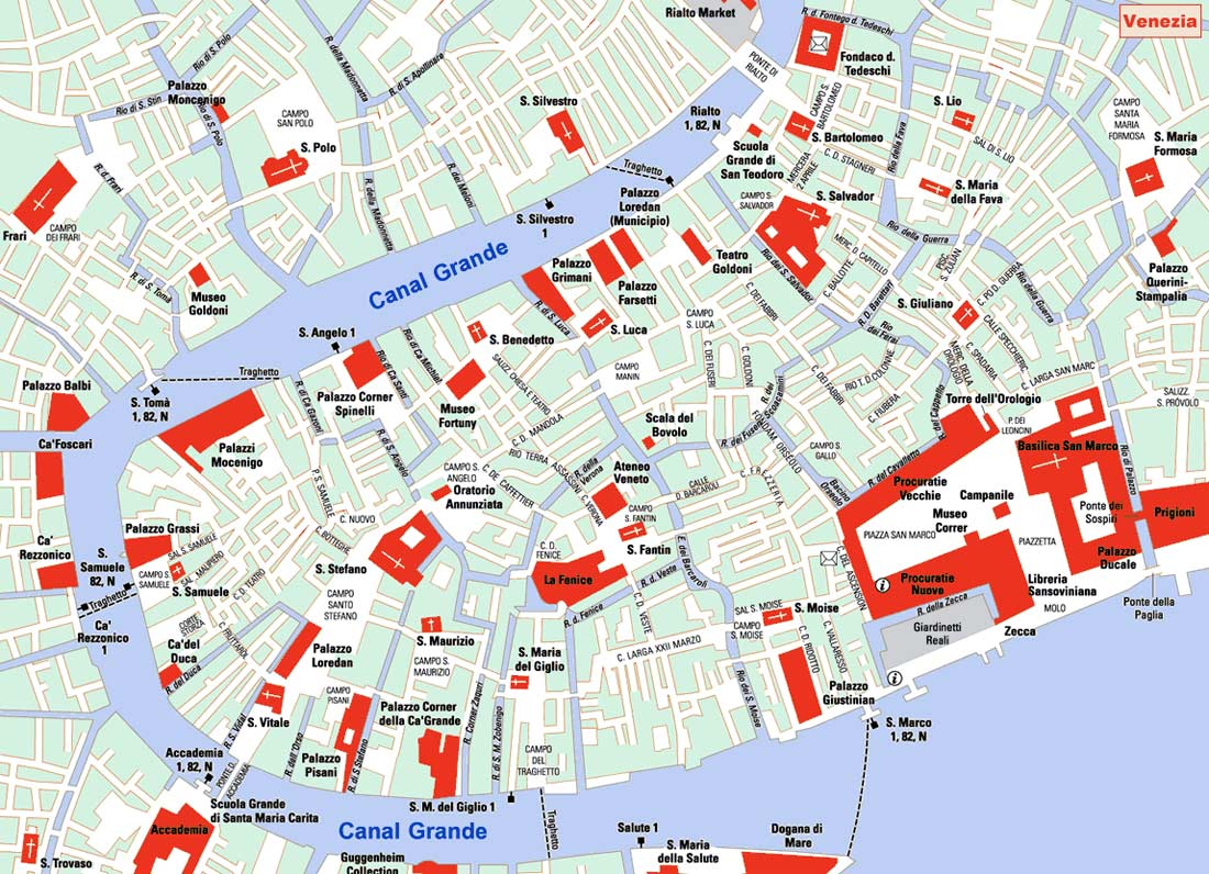 City Map Of Venice Venezia Mapsofnet - Venice map image