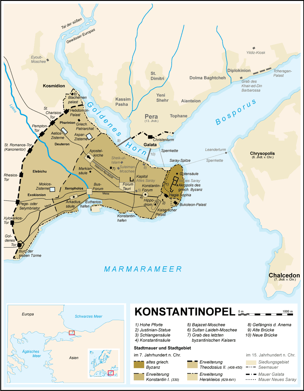 Constantinople Map German