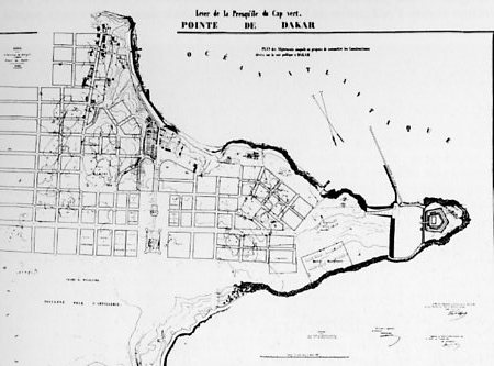 Dakar Map Plan 1863 large map