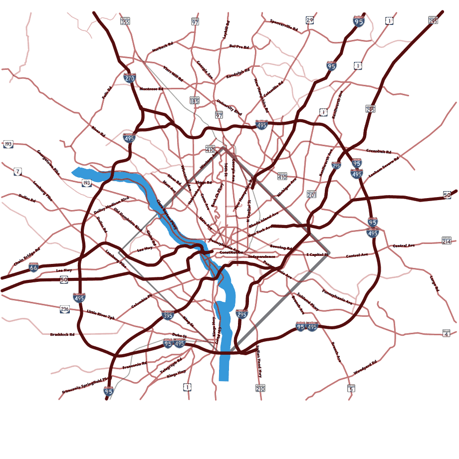 Dc Area Road Map large map