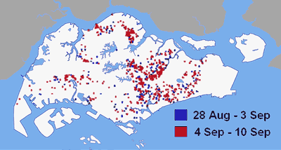 Dengue Hotspot large map