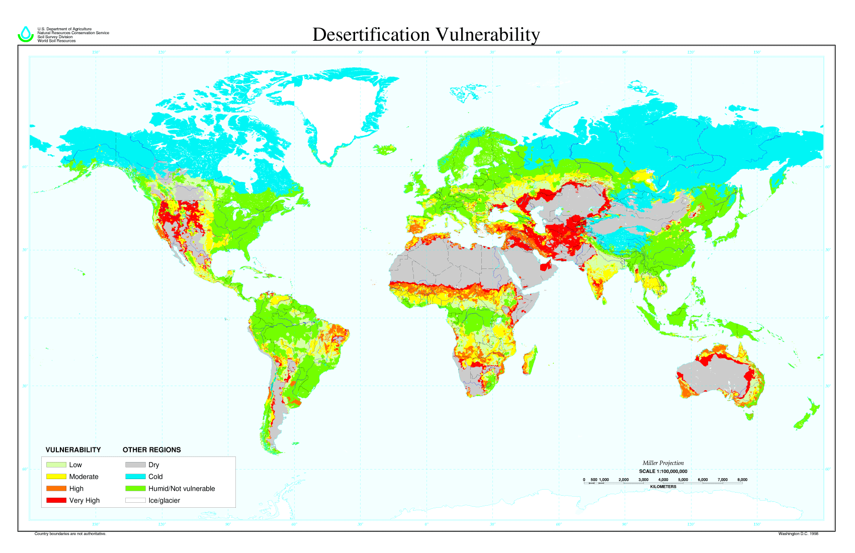 Desertification map mapsof desertification map the world maps desertification map large map gumiabroncs Image collections