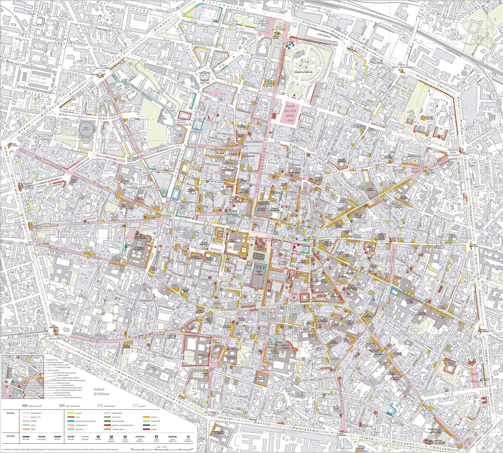 Detailed City Map Bologna large map