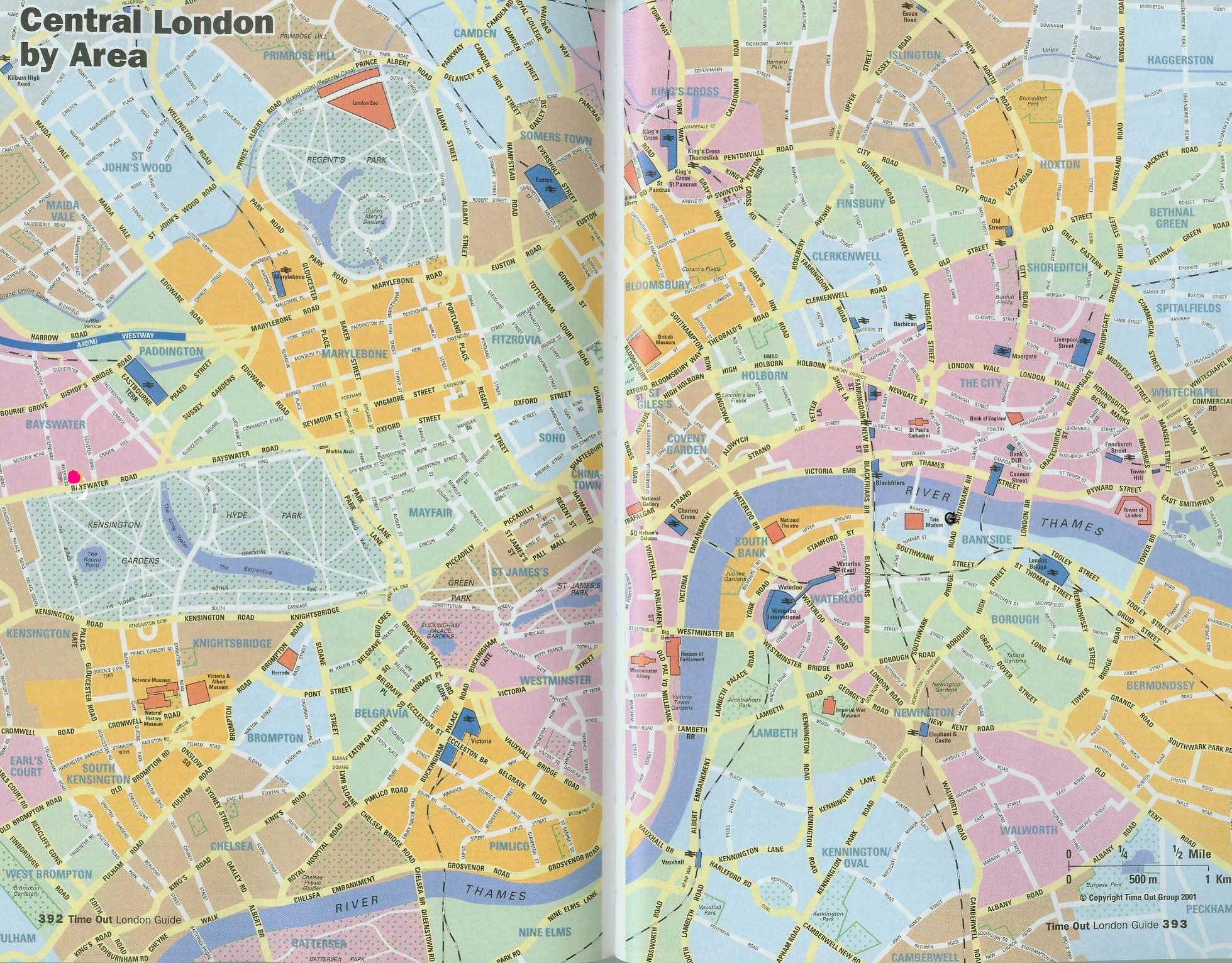 Detailed City Map of London Mapsofnet