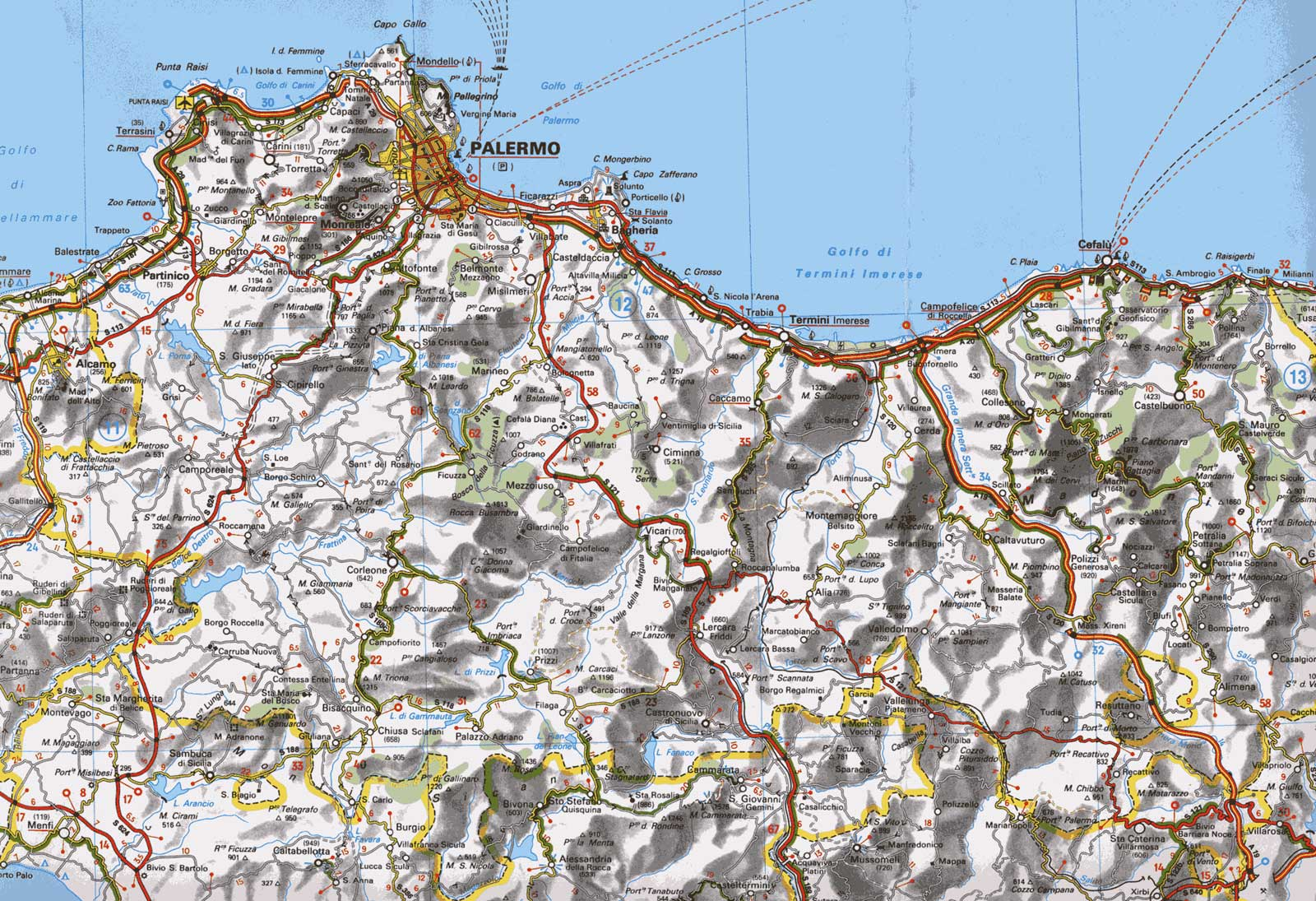 Detailed City Map of Palermo • Mapsof.net