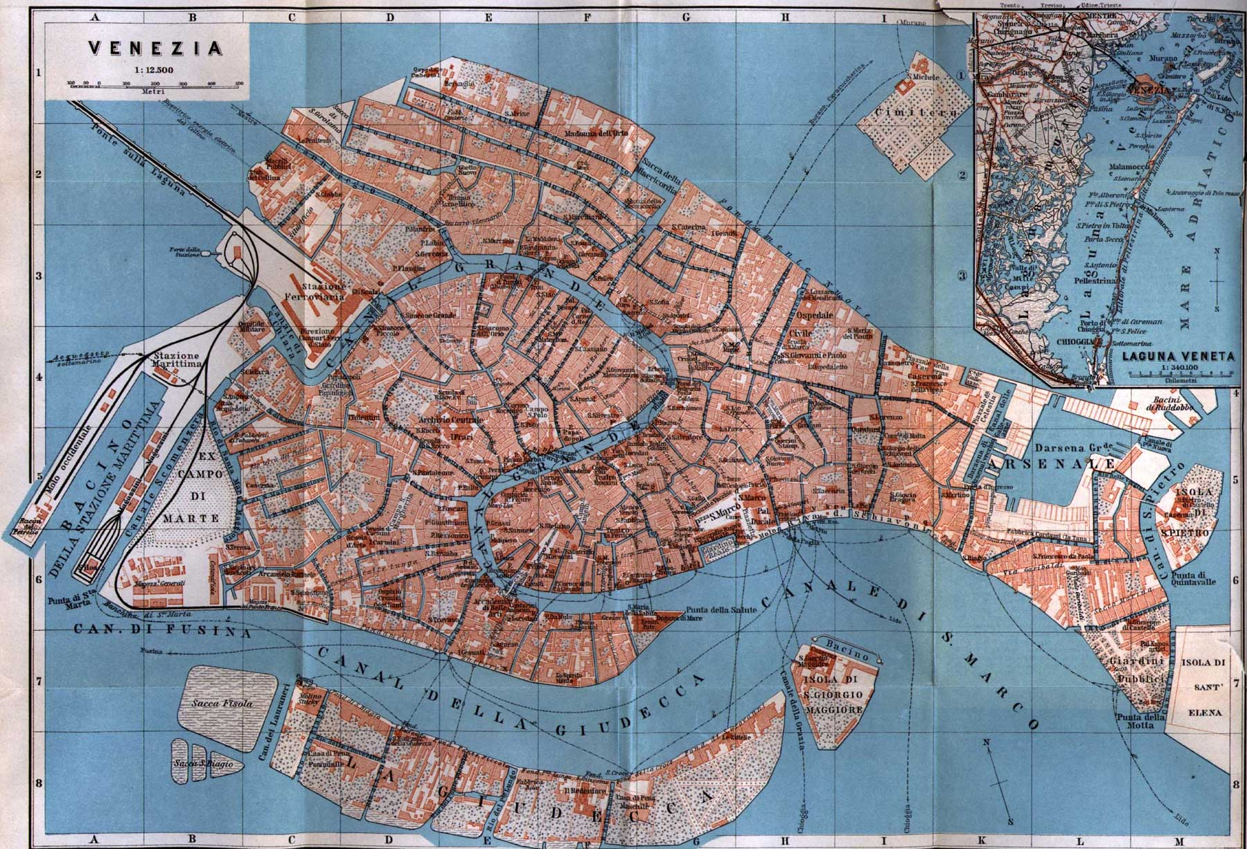 Detailed City Map of Venice (venezia) large map