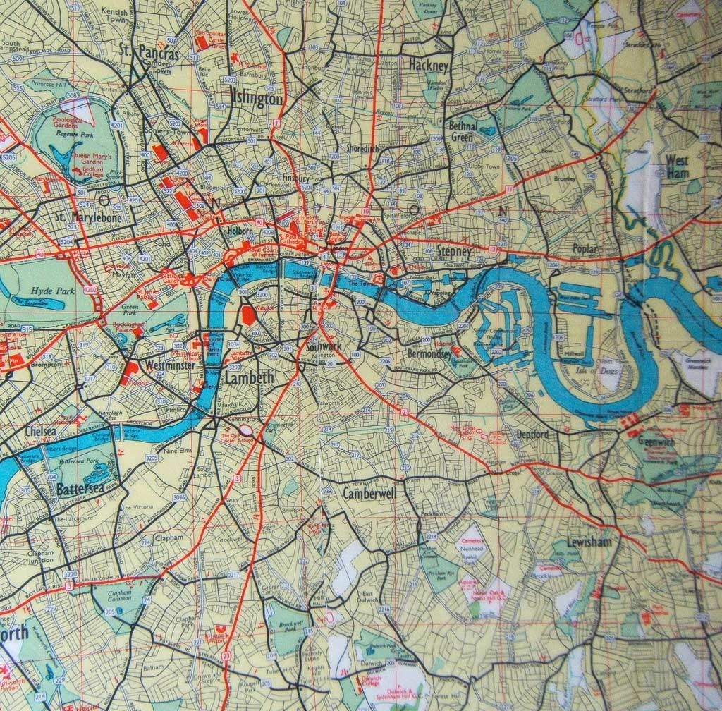 Detailed Map London Mapsofnet