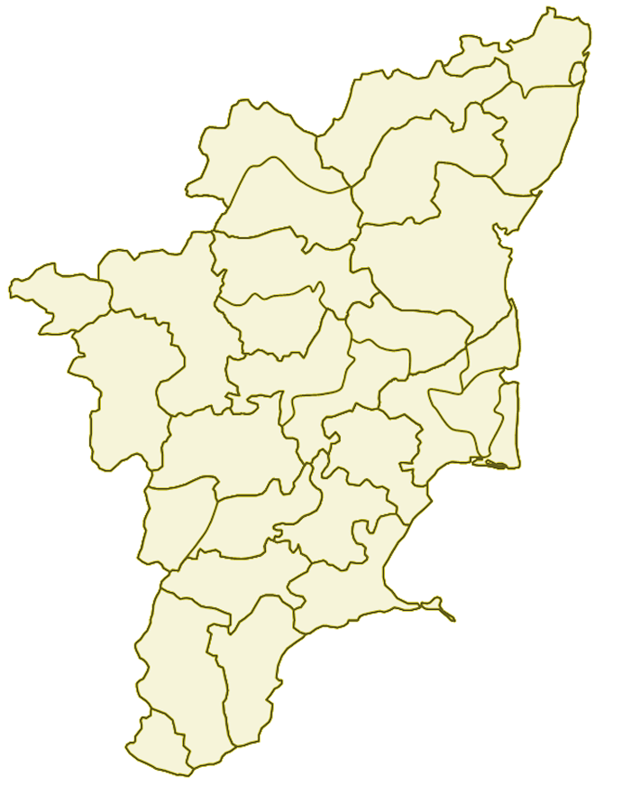 Districts blank map of Tamil Nadu.png