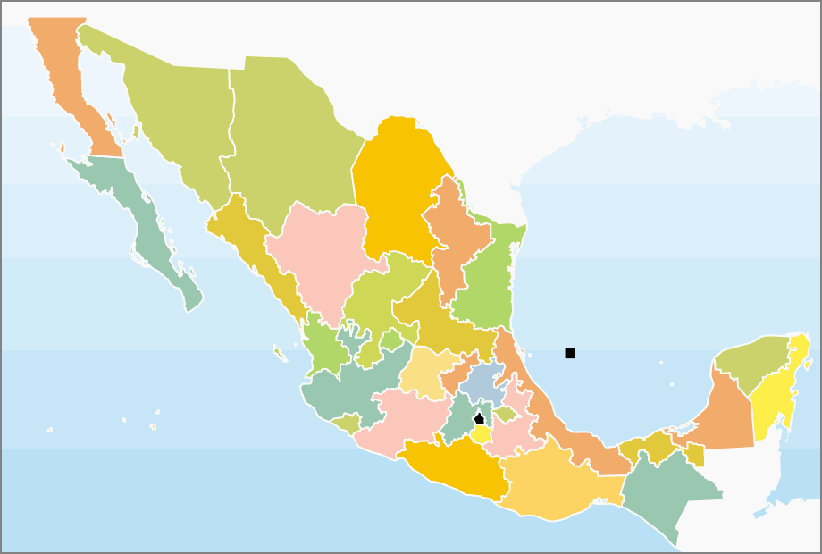 Division Politica Mexico large map