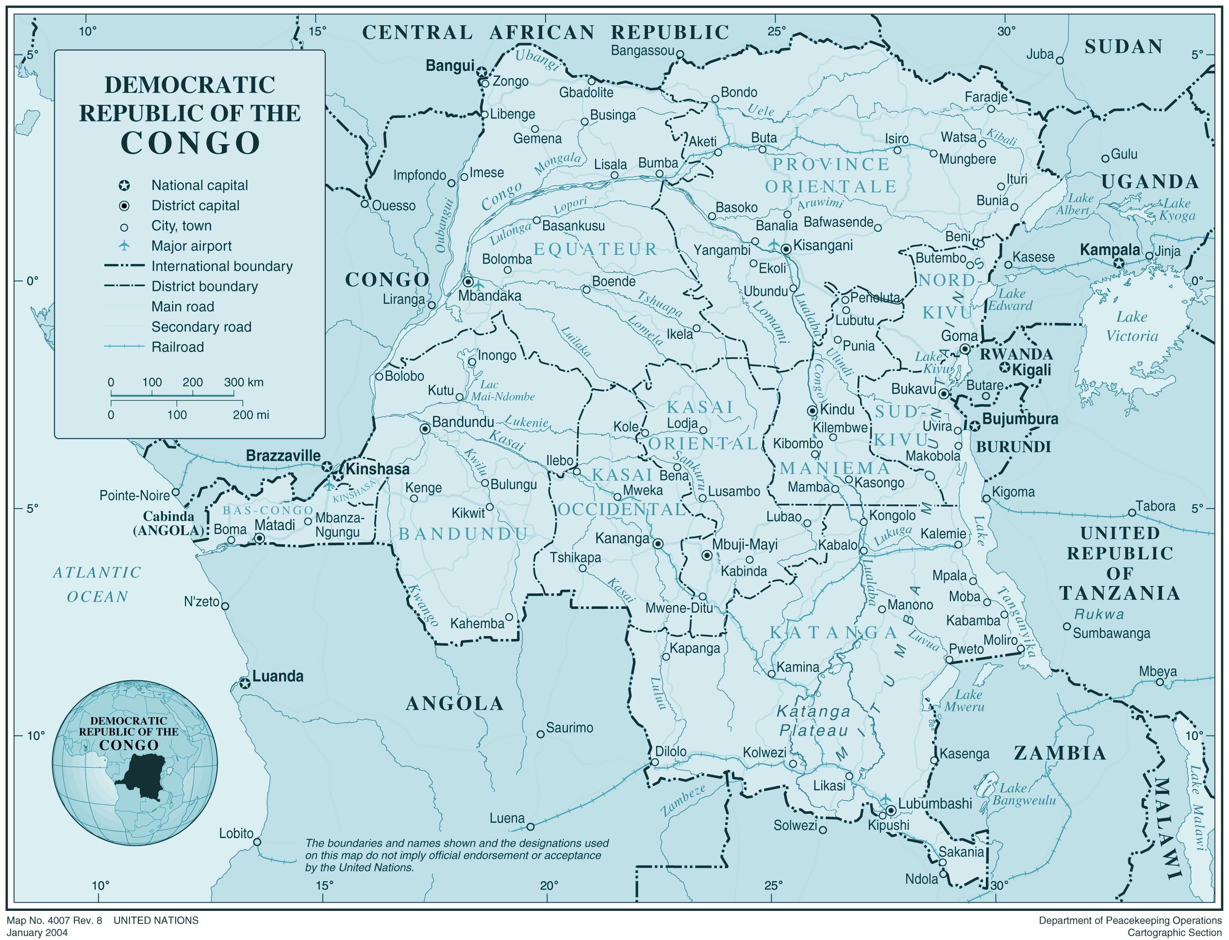 Drcongo large map