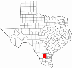 Duval County Texas large map