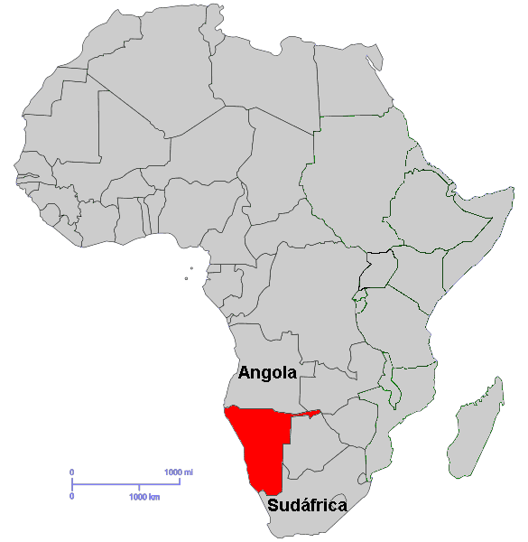 Namibia On Africa Map.East Africa Namibia 2 Mapsof Net