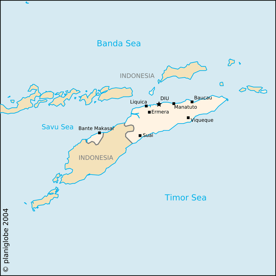 Easttimor large map