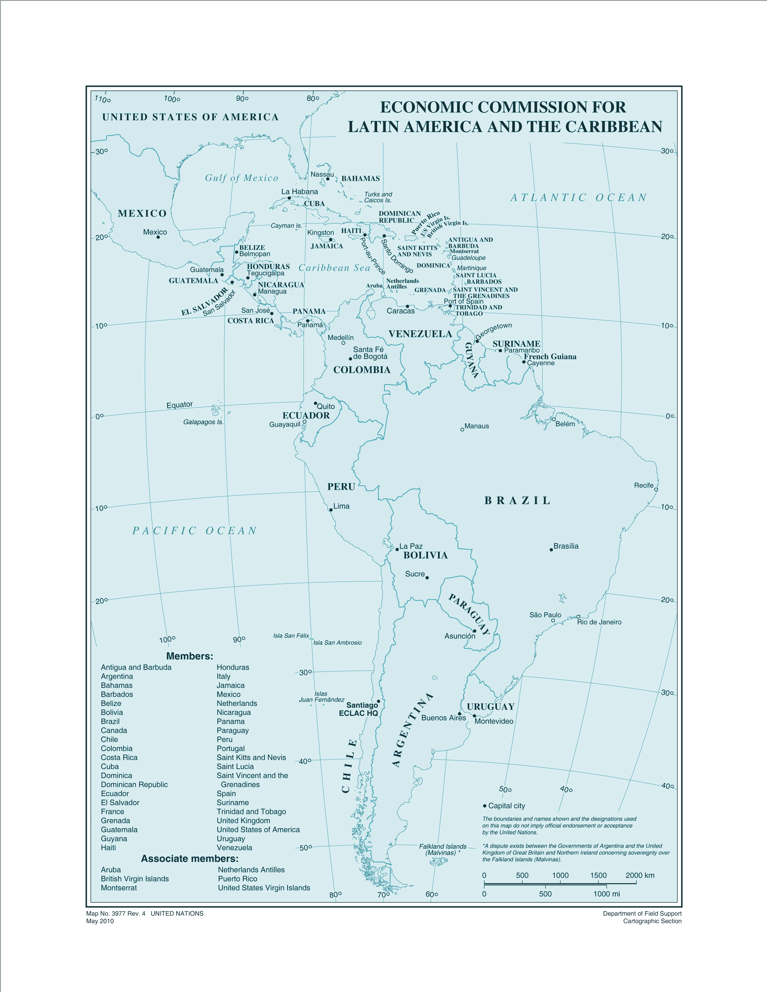 Eclac Members large map