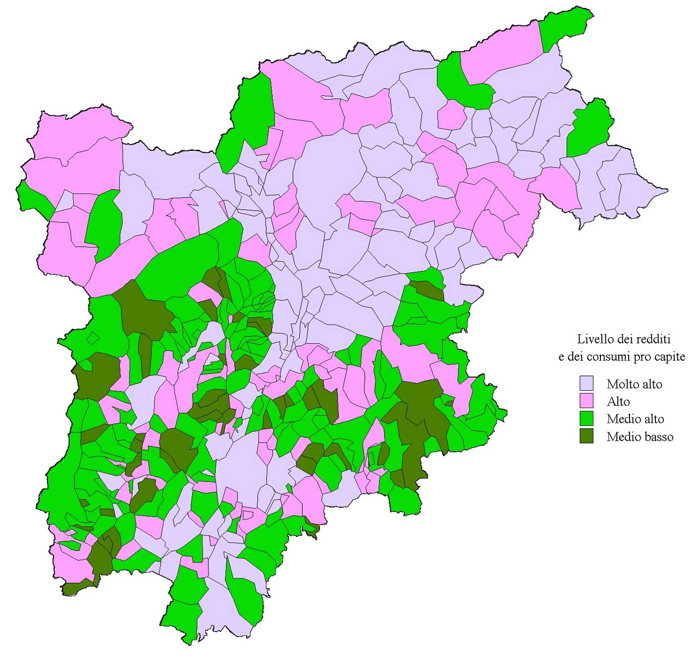 Economic Map of Trentino Alto Adige Mapsofnet