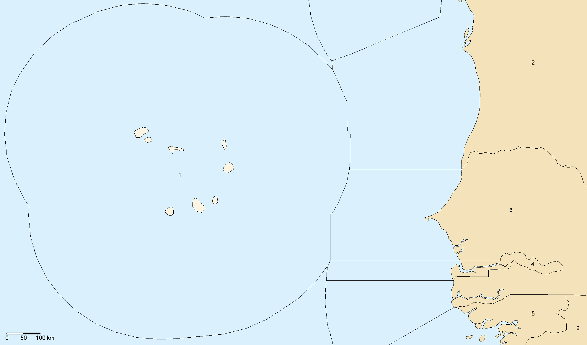 Eez Cape Verde large map