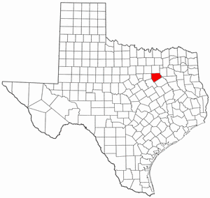 Ellis County Texas large map