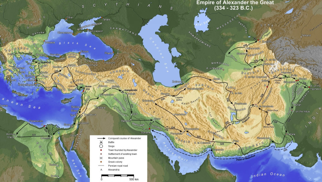 Empire Of Alexander The Great large map