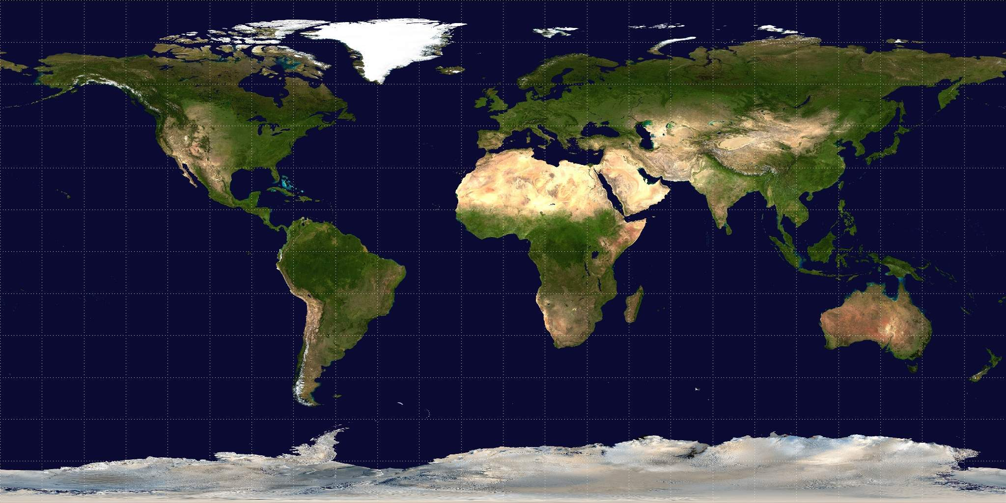 Equirectangular Projection large map