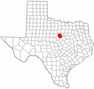 Erath County Texas large map