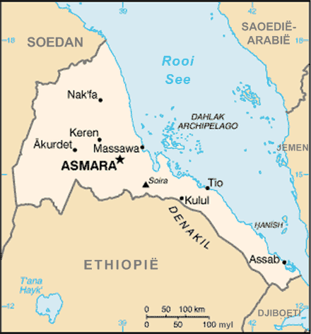 Eritreakaart large map