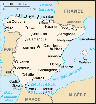 Loyola Spain Map.Espagne Carte Mapsof Net