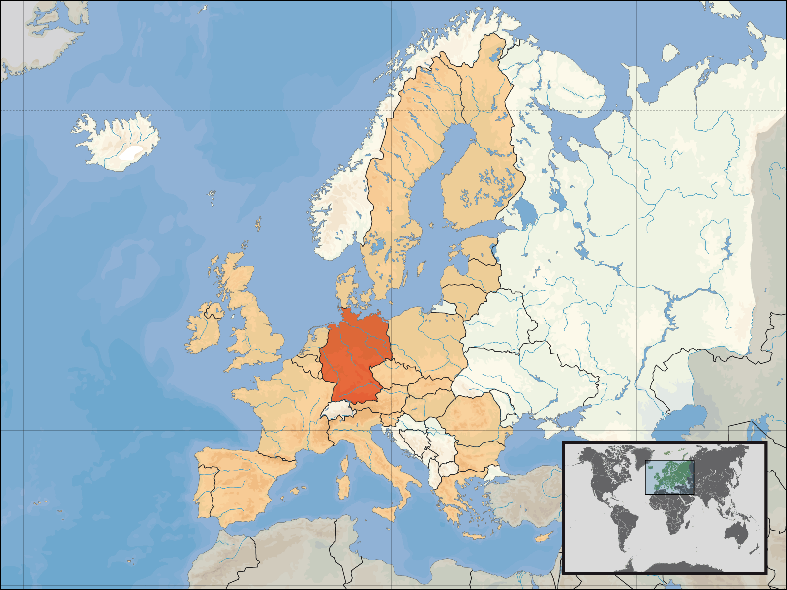 Eu Location Ger Mapsofnet - Germany map location
