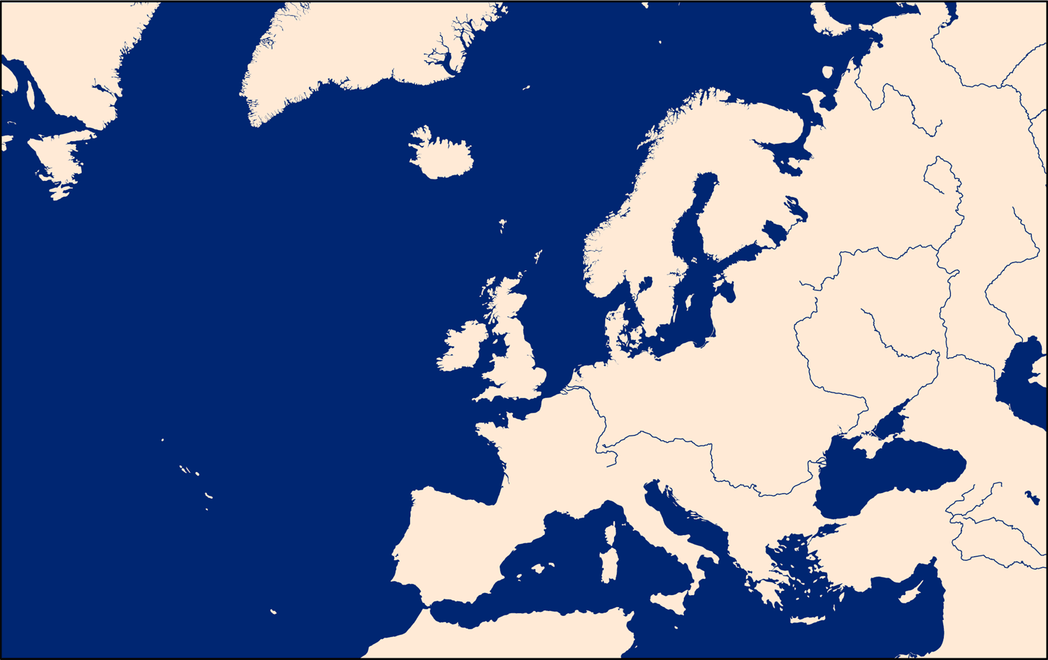 europe and north atlantic map mapsofnet