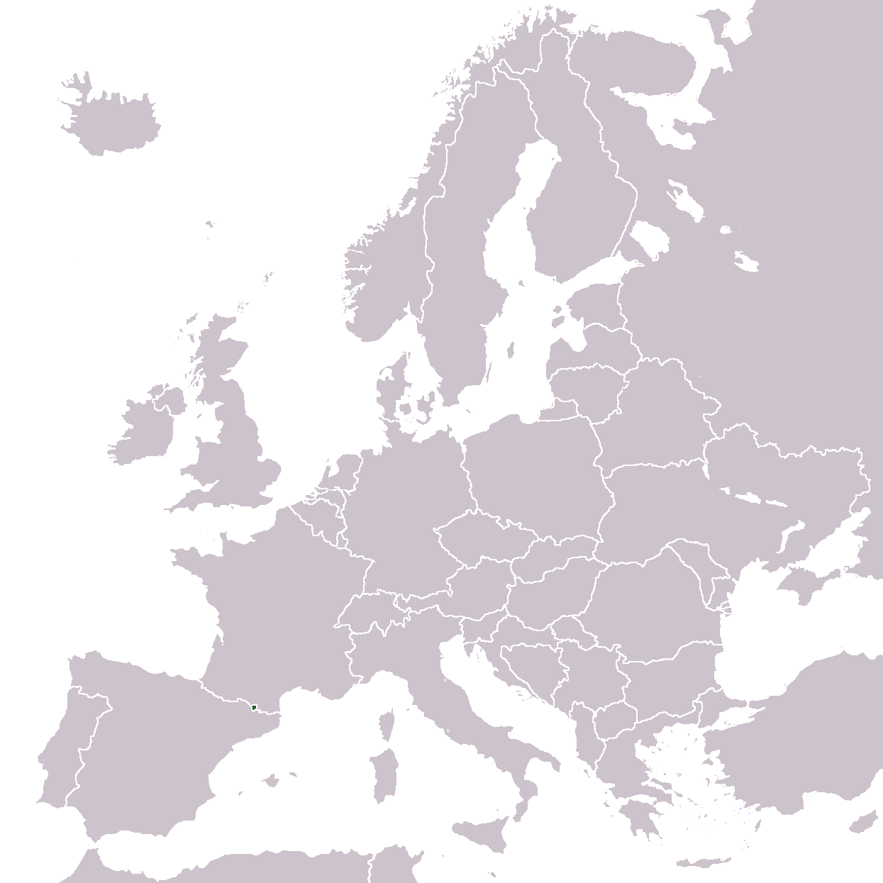Europe Location And large map